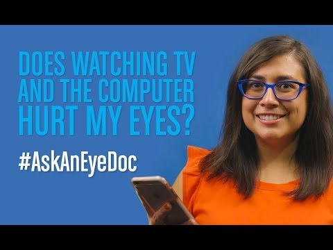 Ask An Eye Doc: Does looking at a computer screen hurt my eyes?