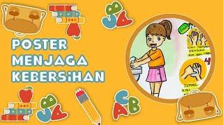 Cara Menggambar Mewarnai Poster Tema Menjaga Kebersihan Dengan Mencuci Tangan Yang Baik Dan Benar Youtube
