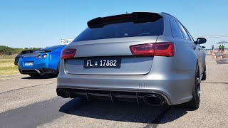 Audi RS6 C7 Avant Milltek Exhaust - Brutal REVS, Acceleration, Drag Racing!