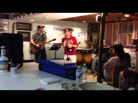 Kyle Menard singing his original