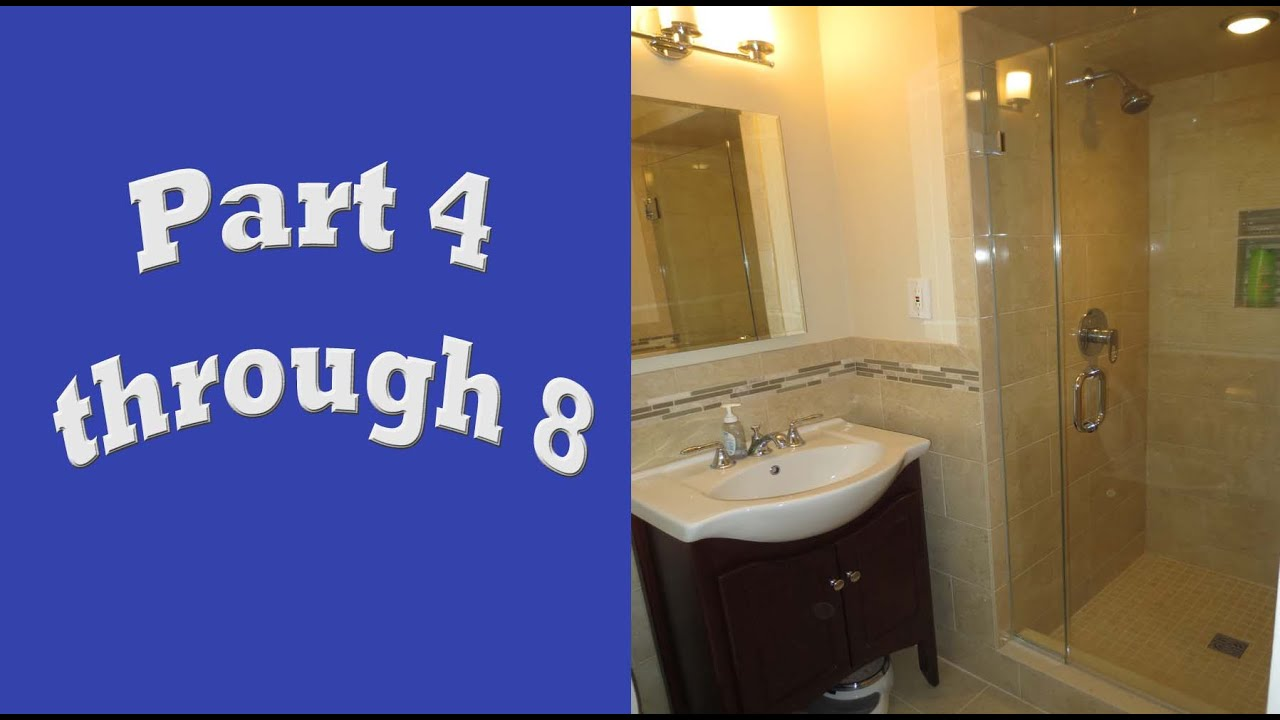Schluter systems bathroom start to finish, Part 4 through 8 - YouTube