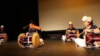 설장고. 한국문화원 공연중 2015년 7월 24일
