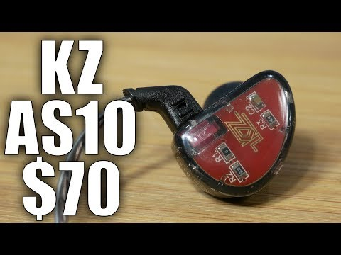 KZ AS10 Earbuds Review: FIVE Drivers Per Ear - Insane Sound For $70