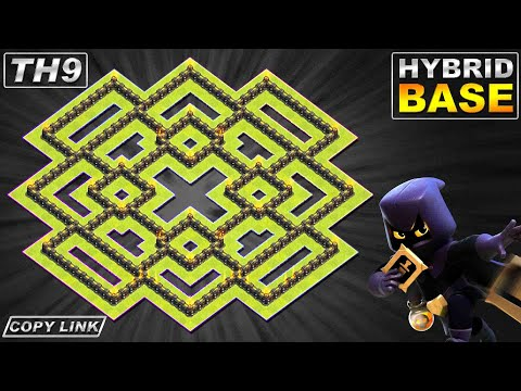 New BEST TH9 Base 2020 | Town Hall 9 (TH9) Hybrid Base Design - Clash of Clans