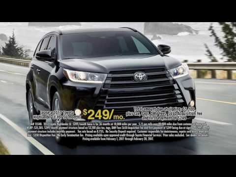 February 2017 Huge Toyota Highlander Lease Deal