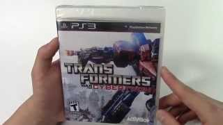 Transformers: War for Cybertron (PS3) Unboxing!!