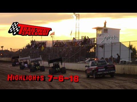 Trail-Way Speedway Highlights 7-6-18