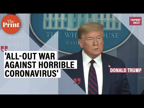 Trump declares 'all-out war against horrible coronavirus' as cases cross 100,000 in US