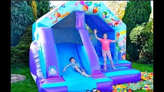 Bouncy Castle Fun for Kids at the Playground with Balls-Kids Song