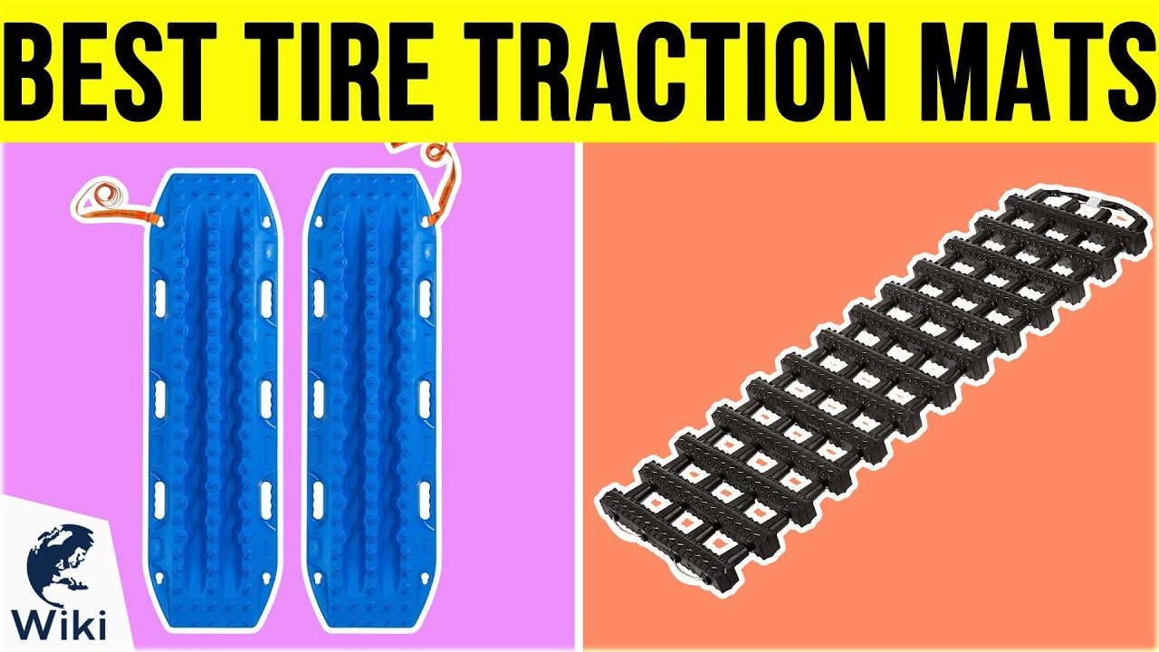 Premium Quality Strong Durable All Season Traction Tracks Mats for Emergencies and Road Trip Zone Tech Foldable Emergency Car Tire Traction Mat