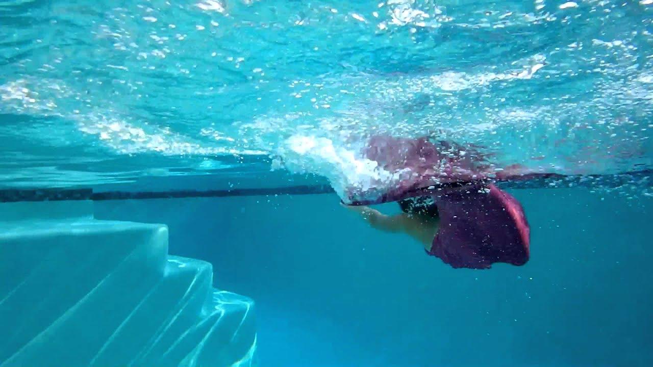 Fin Fun Mermaid Swimming In Pool Youtube