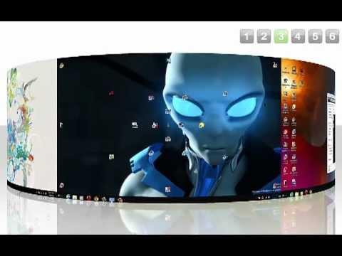 cool rocketdock and objectdock  for Windows 7 screenmarker 3d desktop