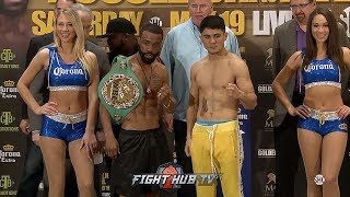 GARY RUSSELL JR VS JOSEPH DIAZ JR - FULL WEIGH IN AND FACE OFF VIDEO