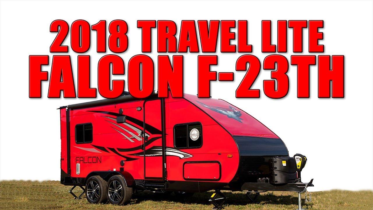 2018 Travel Lite Falcon F 23th Toy Hauler Rv Youtube