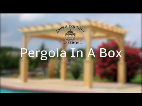 Pergola-in-A-Box Assembly - Amish Country Gazebos