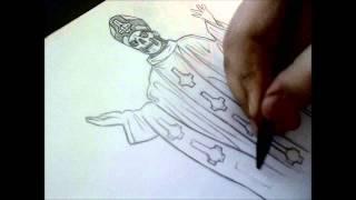 Me drawing Papa Emeritus II - 2. - J.K - Ghost Finland