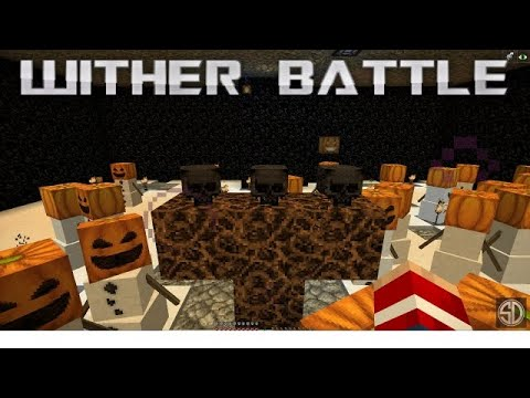 Minecraft 1.14 Wither Battle Underground