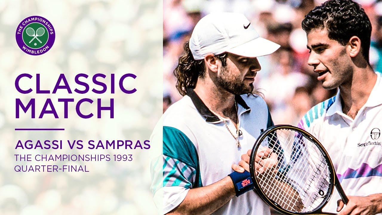 Pete Sampras vs Andre Agassi | Wimbledon 1993 Quarter-final | Full Match -  YouTube