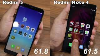 Скачать Redmi 5 Vs Redmi Note 4 Speed Test Multitasking And NAND Storage Comparison