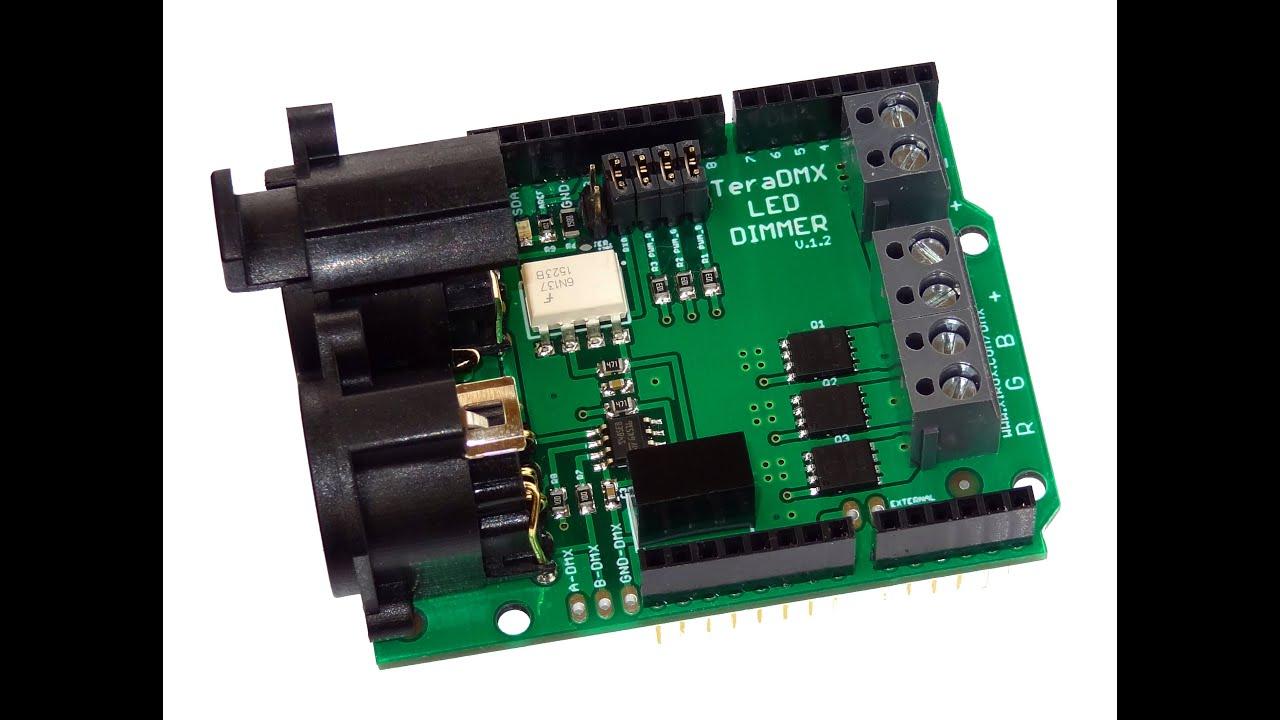 TeraDMX – Arduino DMX Dimmer Shield   Robert Mordzon