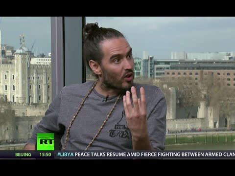 Russell Brand & Max Keiser tear up Her Majesty