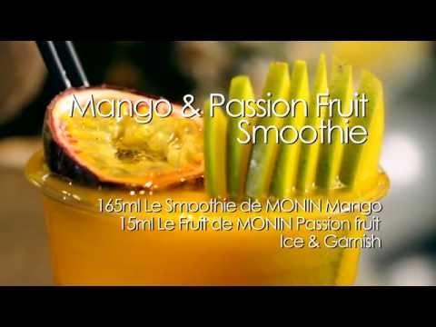 MONIN Mango & Passion Fruit Smoothie