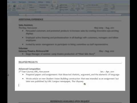 Resumes 101 Headings and Formatting - YouTube