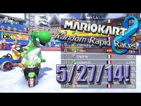 Mario Kart 8 - Random Rapid Races - 5/27/14!