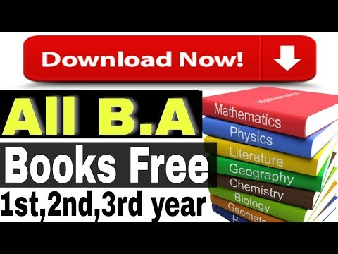 How To Download All B.A Books for free.|1st,2nd,3rd year|2018-2019.