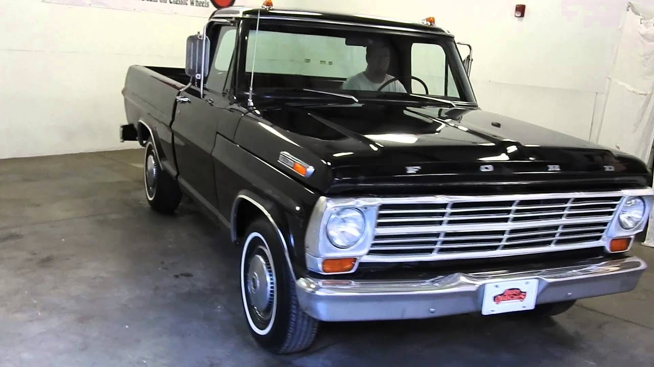 Dustyoldcarscom 1969 Ford F100 Black Pickup Sn 1125 Youtube N Series Truck