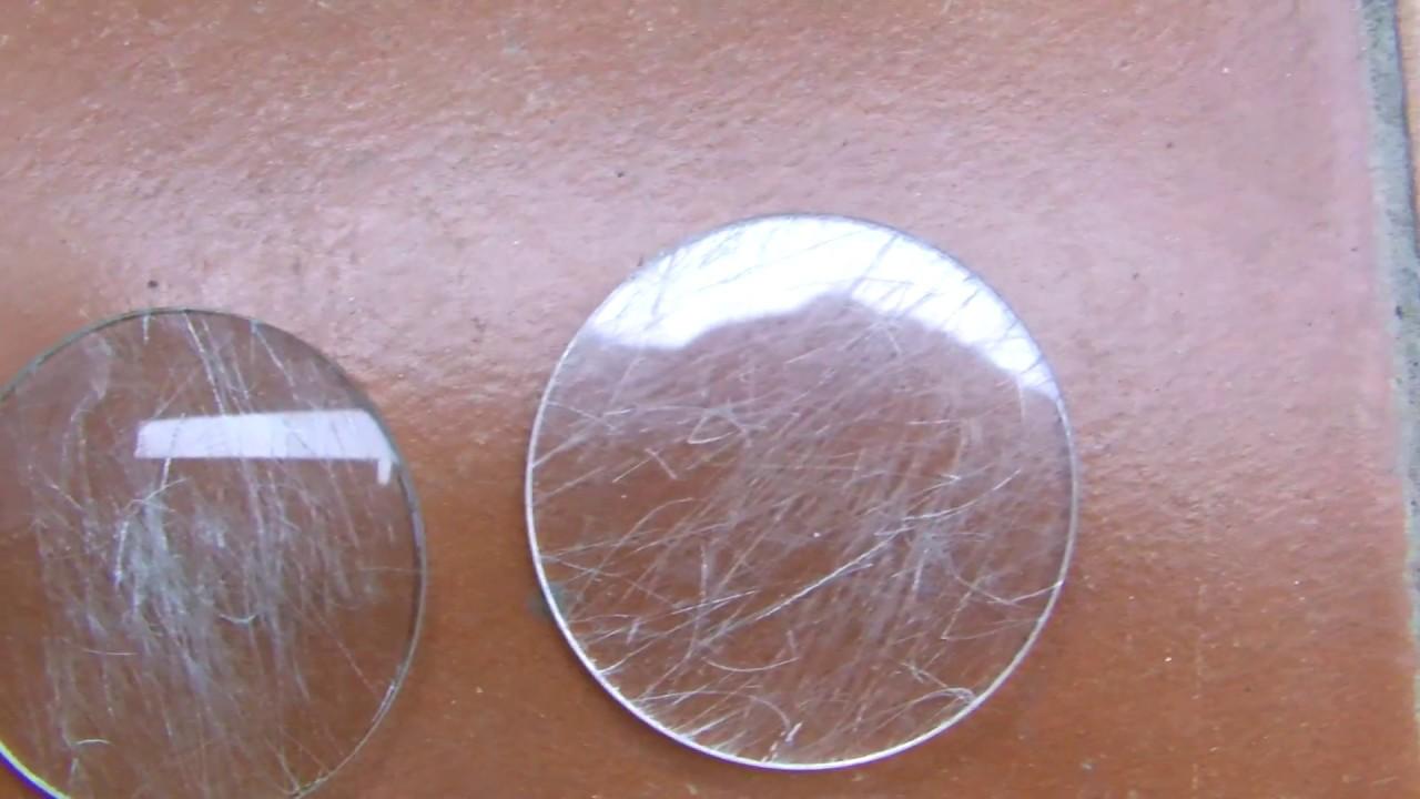 f89ed839a Probando Cristales de Zafiro Sintético contra Vidrio Mineral y Plexiglass.  Relojes Mexicali