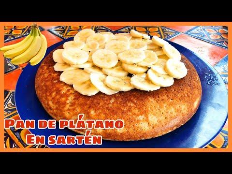 Pan de plátano/banana en SARTÉN sin horno (la mejor receta) 🍌