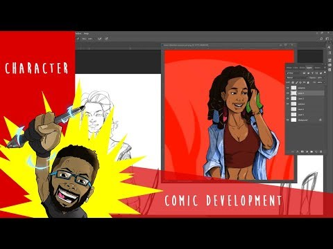 Character design- (Imani Bailey) Comic book development