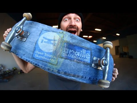 A SKATEBOARD MADE OF A DENIM! | YOU MAKE IT WE SKATE IT EP 70