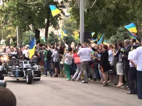 Видео: Днепропетровщина отметила День Флага автомотовелопробегом