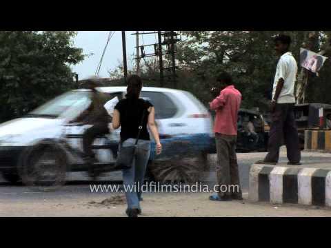 Queues of vehicles jam Faridabad roads - Haryana