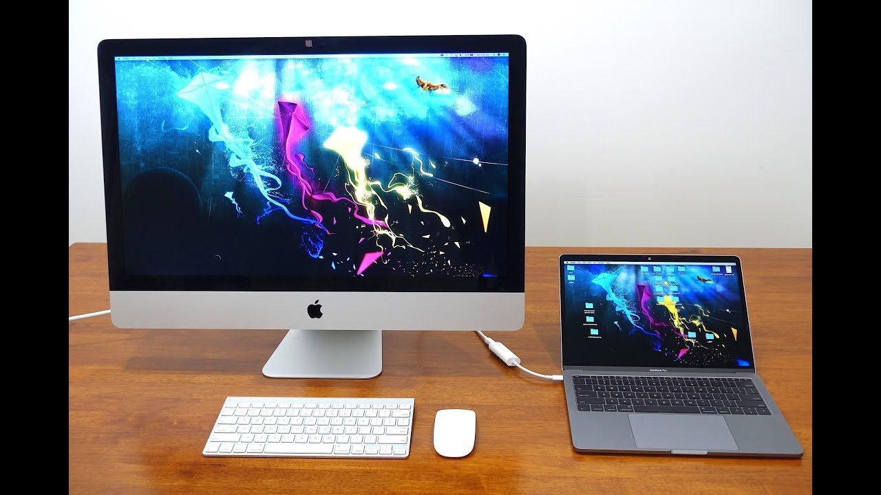 Hook up imac to macbook pro
