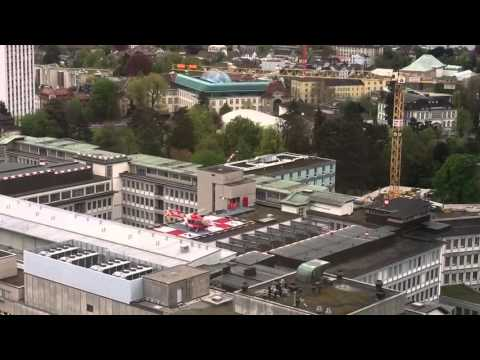 Helicopter landing at zurich hospital