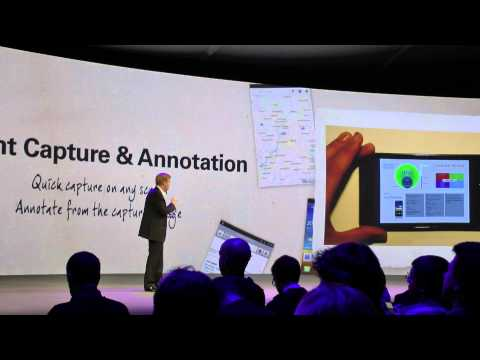 Samsung Galaxy Note presentation at Galaxy Note World Tour in London
