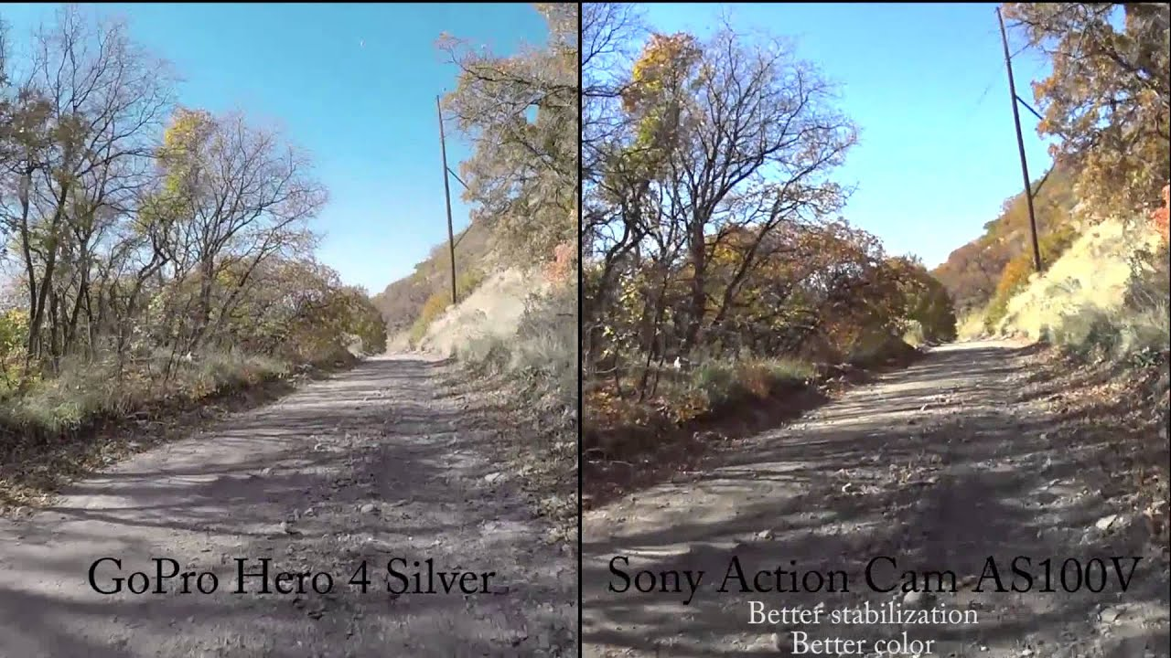 Camera Gopro Hero Vs Sony Action Cam gopro hero 4 silver vs sony action cam as100v youtube