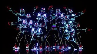 Light Balance - Electric Dancers With Neon Suits