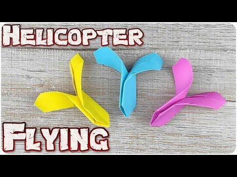 How To Make Flying Helicopter Spinner    Diy Paper Craft Ideas 2019