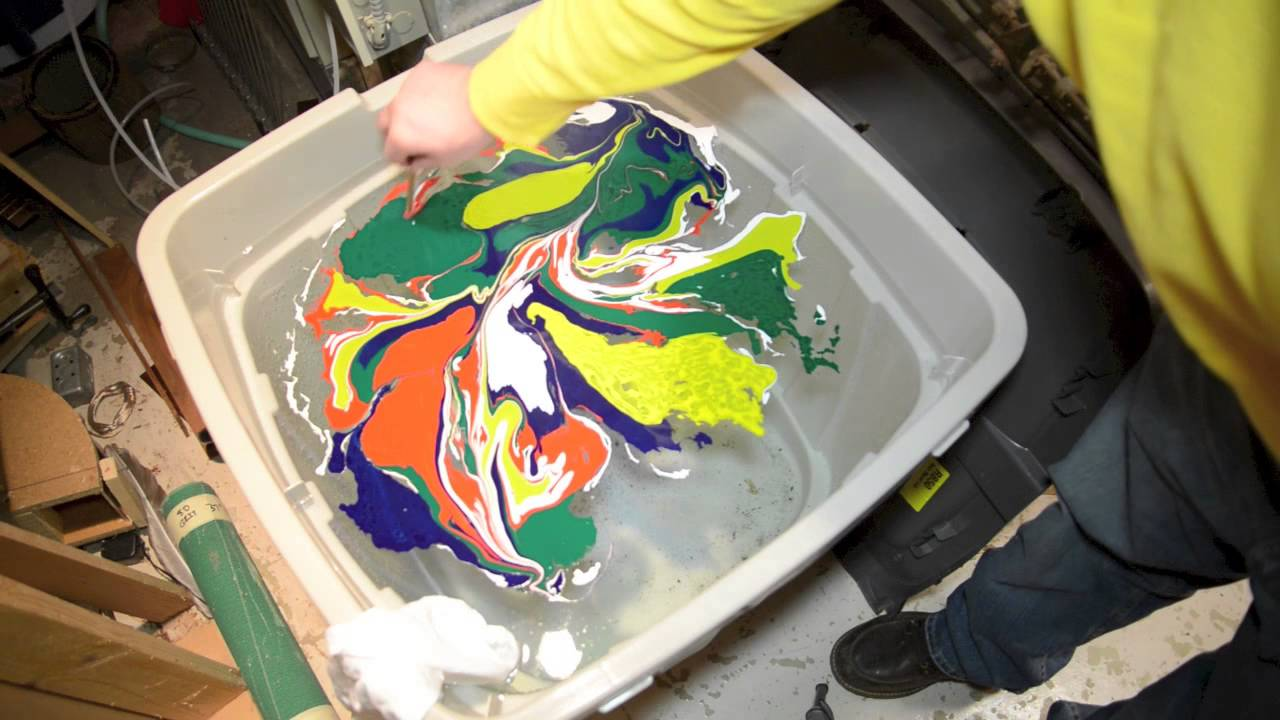 How To Swirl A Strat Guitar Body With Magic Marble Paints