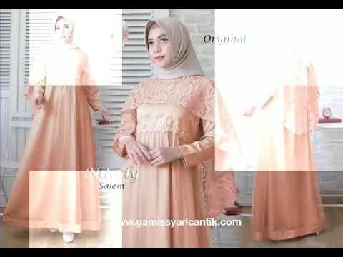 Model Baju Gamis Pesta Pernikahan 2019 081213381472 Youtube