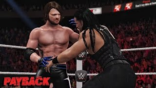 WWE 2K16 Payback 2016 - Roman Reigns vs AJ Styles WWE World Heavyweight Championship Match!
