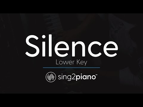 Silence (LOWER Piano Karaoke) Marshmello & Khalid
