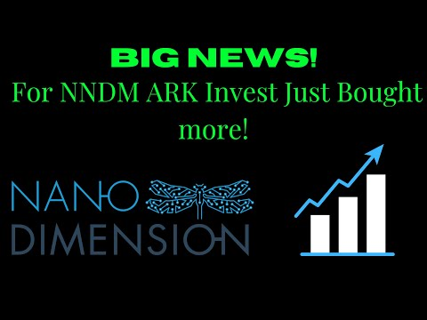 NANO DIMENSION NNDM STOCK CHART ANALYSIS | BIG NEWS ARK INVEST JUST BOUGHT MORE!