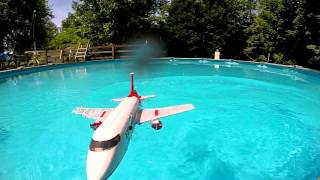Lego Plane Crash in Water - Slow Motion