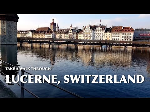A Nice Walk Through Swiss City of Lucerne on 13th January, 2018