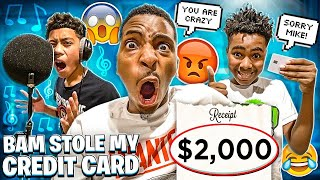 BAM STOLE MY CREDIT CARD & ORDERED $2000 PAIR OF SHOES! 💔